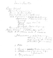Marjorie Elizabeth Olsen (1917-1996) notes on Peder Matthias Olsen (1849-1896) from circa 1971 concerning siblings