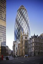 30 St Mary Axe from Leadenhall Street