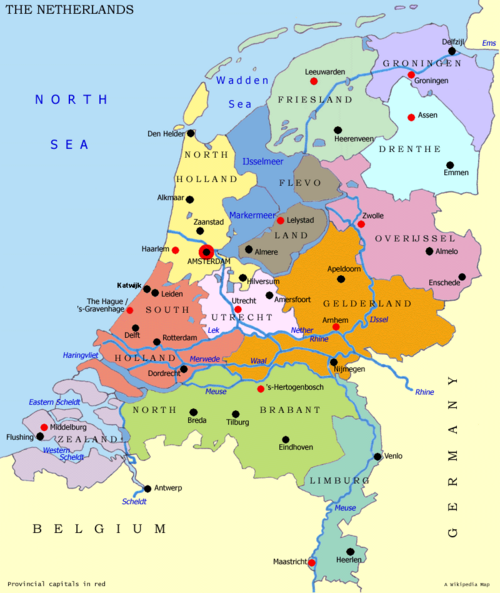 Netherlands map large