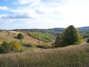 Hills in baranya county, hungary