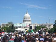 Capital building and darfur rally