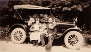 William Nathan McDowell and Mae Piatt and their car
