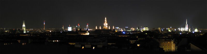 Vienna Panorama at Night