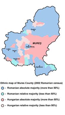 Mures (Maros) county ethnic