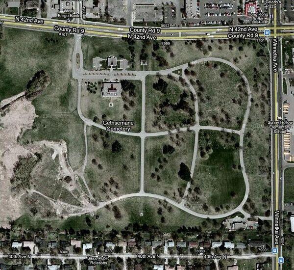 Gethsemane Cemetery map