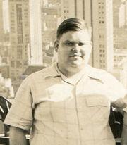 Carl Tandberg Milner (1915-1999) with skyscrapers
