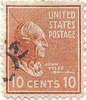 John tyler stamp