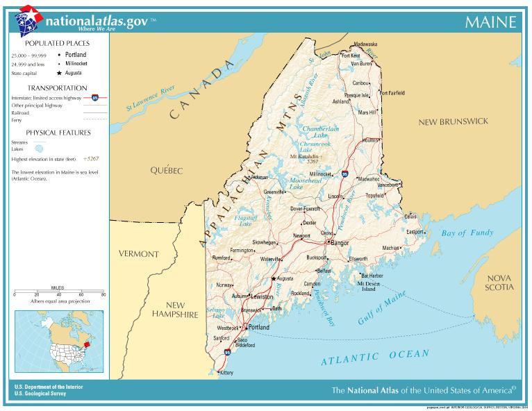 Maine Familypedia FANDOM Powered By Wikia - Maine usa map