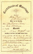 Peter Rice Eva Douse Marriage Certificate
