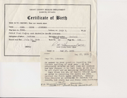 Carl Johnson birth cert middle initial issue