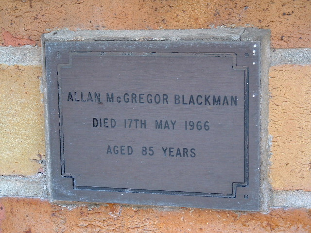 Allan McGregor Blackman (1908-1966) tombstone