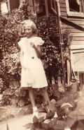 Helen Freudenberg at Claremont Avenue circa 1935