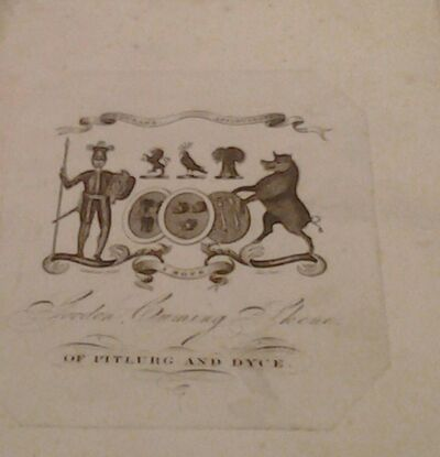 Gordon Cuming Skene bookplate 1820