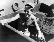 Lt John F Kennedy skipper aboard the PT-109