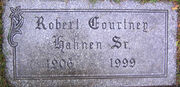 Robert Courtney Hahnen I tombstone