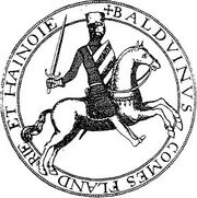 Baudouin V de Hainaut (1150-1195)zegel