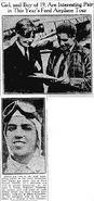 Eddie Schneider and Nancy Hopkins in the Newark Advocate, September 16, 1930
