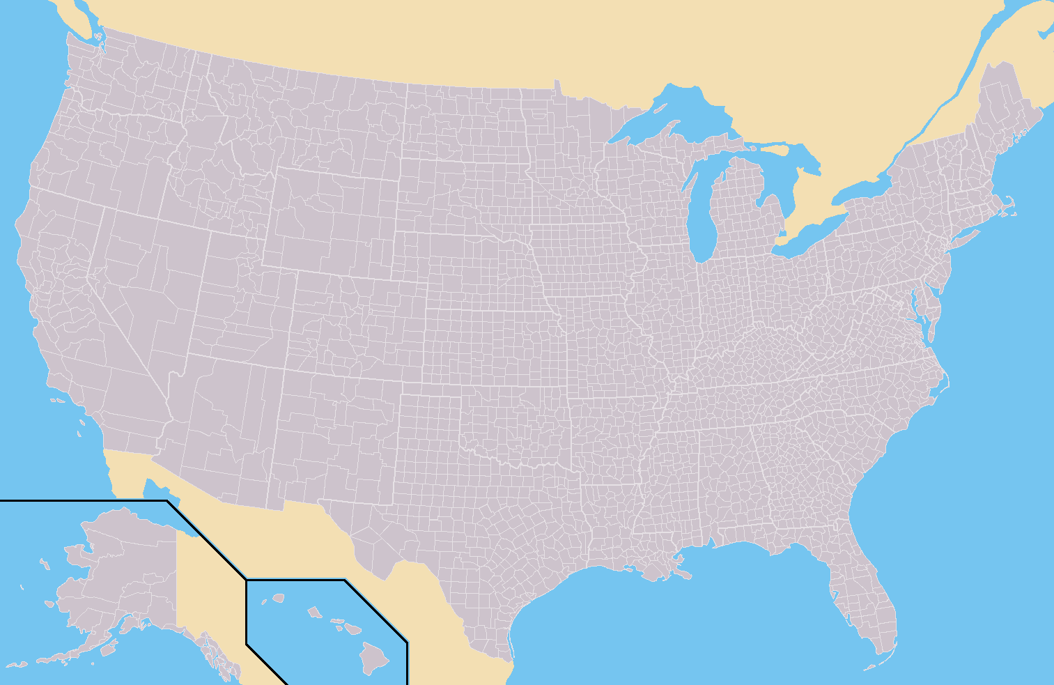 FileUSA Countiessvg Wikimedia Commons US County Outline Maps - Us counties in excel
