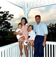 JFK and family in Hyannis Port, 04 August 1962
