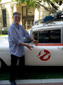 Stephen Dane with Ecto-1