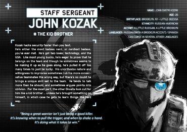 John Kozak Ghost Recon Wiki Fandom Powered By Wikia