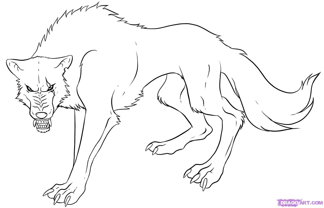 Full Resolution Image Howtodrawananimewolfstep7g Ghosts 'n Goblins How To  Draw Anime Kit Solution For How How To Draw Howling Wolves, Howling Wolf  Step 3