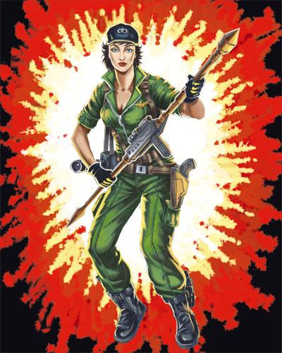 Gi Joe Retaliation Snake Eyes Vs Storm Shadow Lady Jaye (RAH) | Joep...