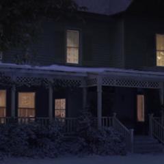 Winter eve exterior