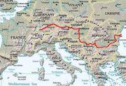 Map danube