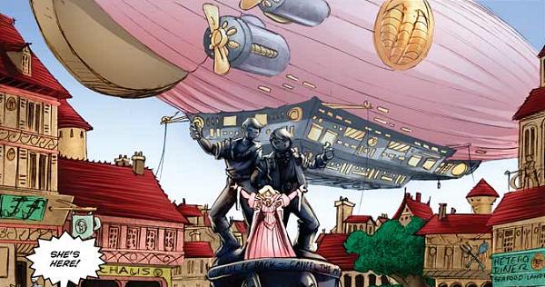 Pink-airship