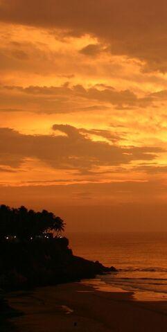 File:Sunset at Varkala Beach Kerala India.jpg
