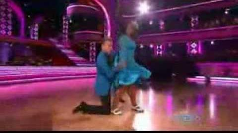 Amber Riley & Derek Hough in dancing with the starts- Week 2
