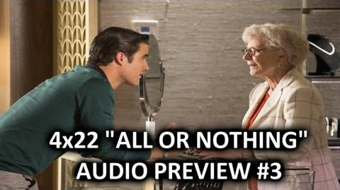 "Glee 4x22 Audio Preview 3 ""All Or Nothing"" ""Blaine select an engagement ring for Kurt"""
