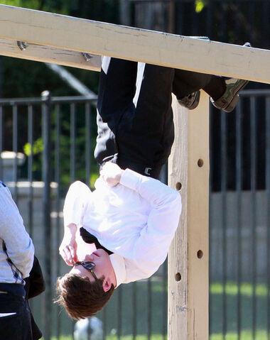 File:Chris Colfer Stars Filming Glee Church Northridge MNHjR7NKfk7l.jpg