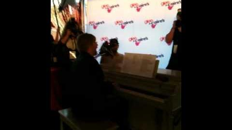 Brad Ellis performing at Glee Season 2 Premier at Glendale Galleria