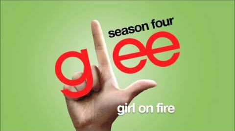 Girl On Fire Glee HD FULL STUDIO