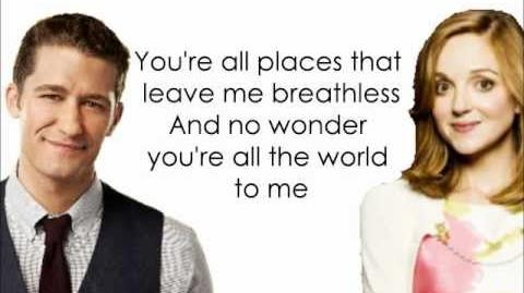 Glee - You're All The World To Me Lyrics HD