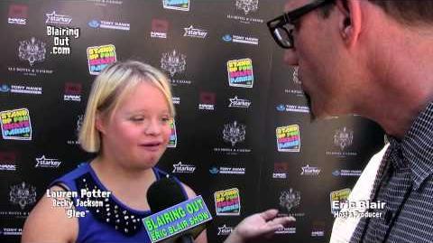 Glee's Lauren Potter talks w Eric Blair about The Tony Hawk Foundation 2013-1