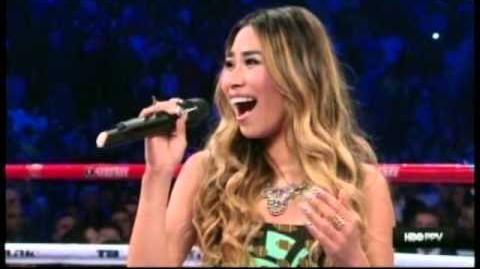 Jessica Sanchez sings Star Spangled Banner & Lupang Hinirang
