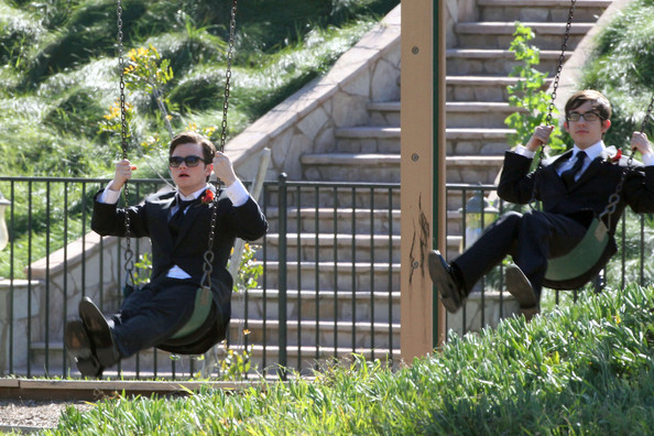 File:Chris and Kevin on swings.jpg