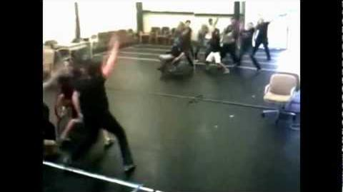 Glee Cast - Like A Prayer (Rehearsal Video)