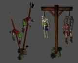 Object hanged impaled