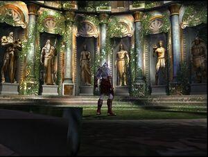 God of war 2 statues