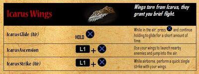 Icarus Wings - abilities