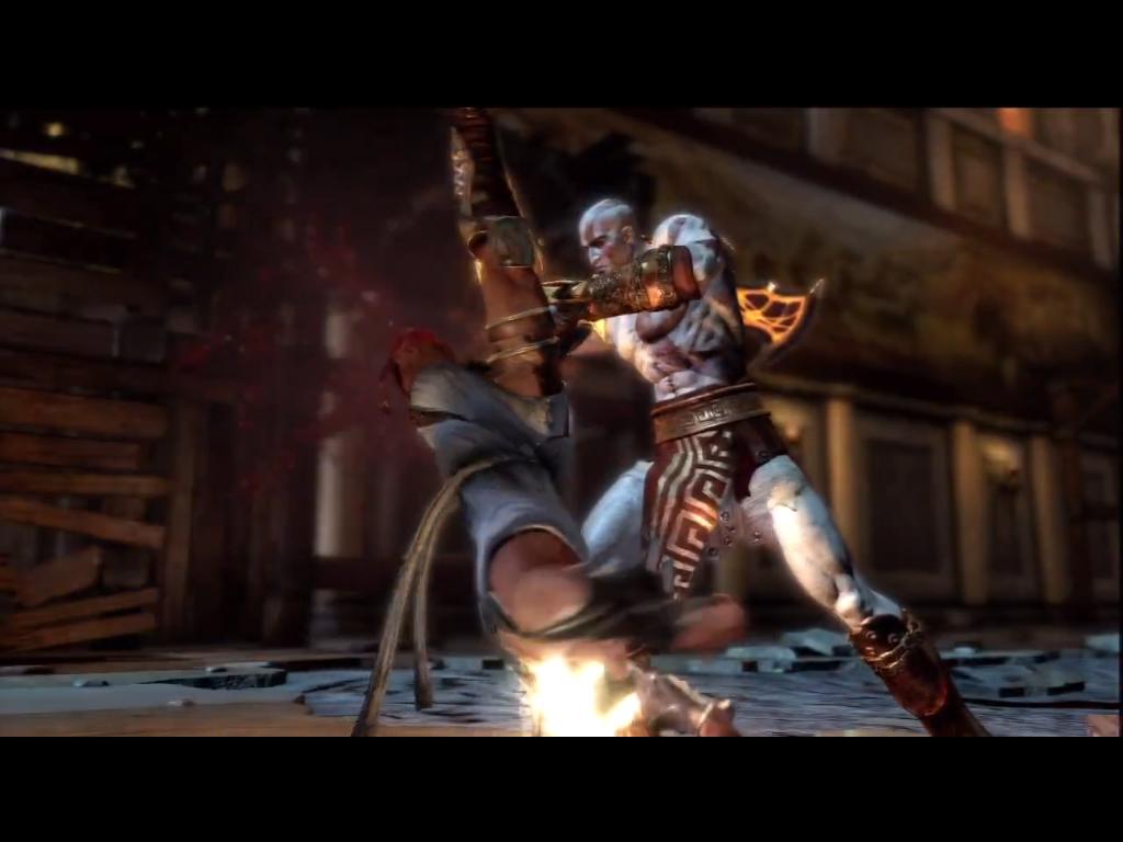 Kratos Killing Hermes