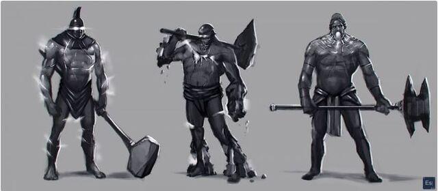 File:Elemental Talos Juggernaut trio concept.JPG