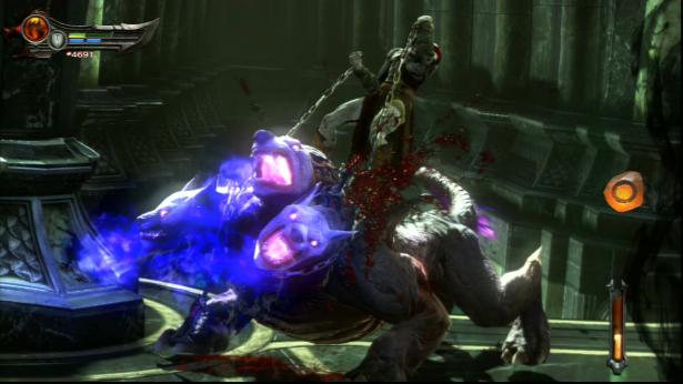 File:Kratos killing a Cerberus Mongrel in Ascension.png