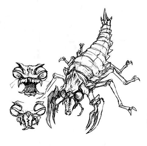 File:Concept Art - Godzilla vs. Megaguirus - Meganulon 2.png