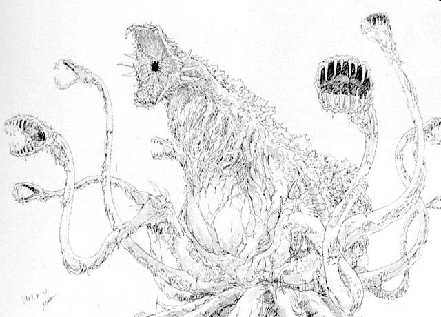 File:Concept Art - Godzilla vs. Biollante - Biollante 11.png