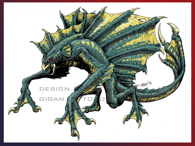 File:Organic Gigan design by KaijuSamurai.jpg